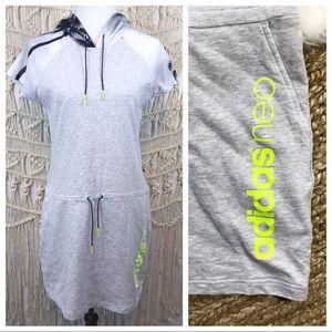 Adidas Neo | Hooded T-Shirt Dress